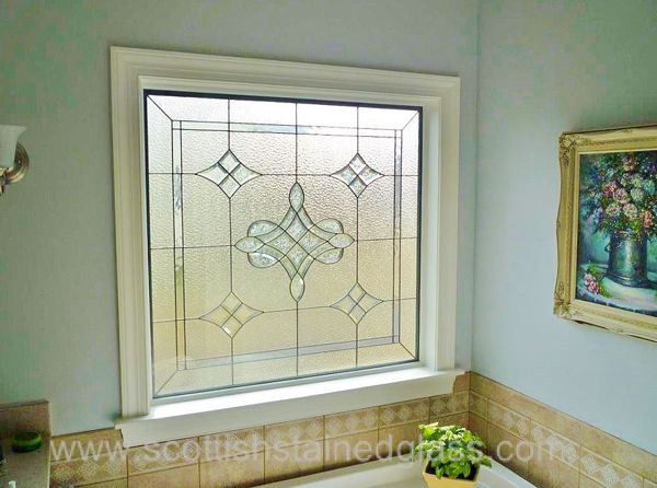 Kansas City Stained Glass Bathroom Bevel Glass