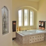Kansas City Stained Glass Bathroom in Leawood