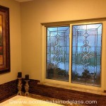 Kansas City Stained Glass Bathroom in Mission Hills